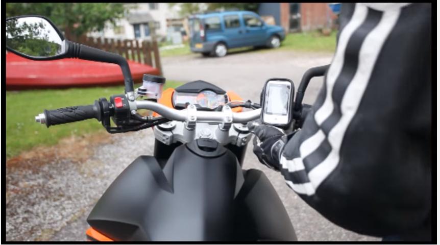 後視鏡導航座機車手機架摩托車手機夾摩托車導航架重型機車導航座防水包手機支架手機車架