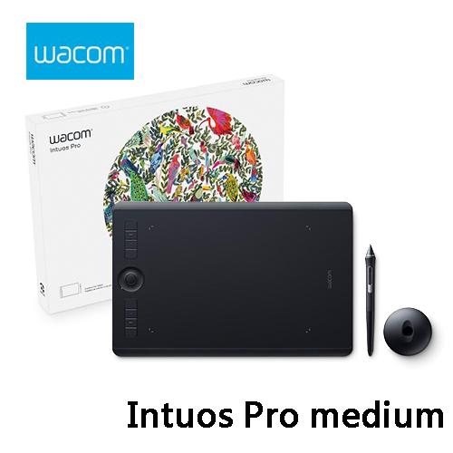Wacom和冠Intuos Pro medium專業繪圖板PTH-660 K0-CX中尺寸觸控無線繪圖板