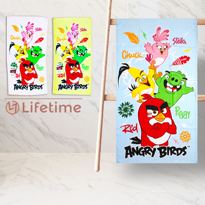 ﹝憤怒鳥純棉大浴巾﹞正版沐浴巾 大毛巾 純棉毛巾 Angry Birds〖LifeTime一生流行館〗B21063