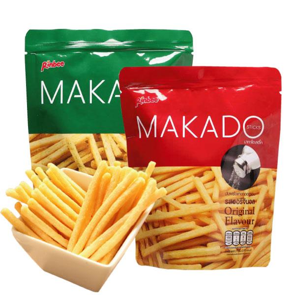 泰國 MAKADO 麥卡多薯條(27g) 鹽味/海苔【櫻桃飾品】【24483】