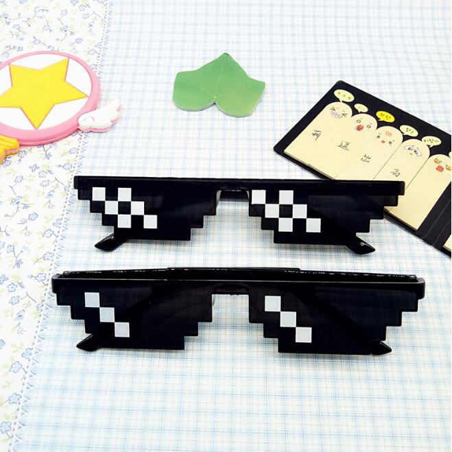 葉子小舖馬賽克眼鏡趣味搞怪像素眼鏡裝B神器二次原像素新奇有趣時尚潮流
