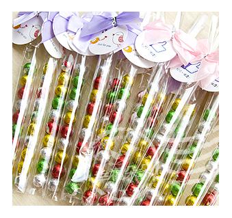 幸福朵朵專屬吊牌繽紛巧克力球串10顆入二次進場來店禮創意喜糖活動婚禮小物