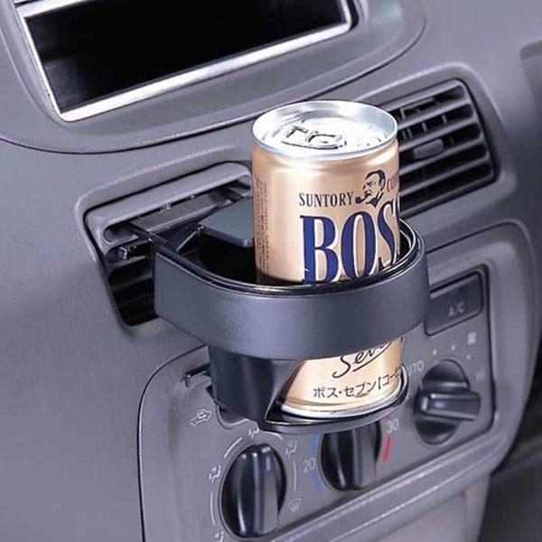 車之嚴選cars go汽車用品Fizz-600日本NAPOLEX冷氣出風口夾式車用飲料架杯架黑色