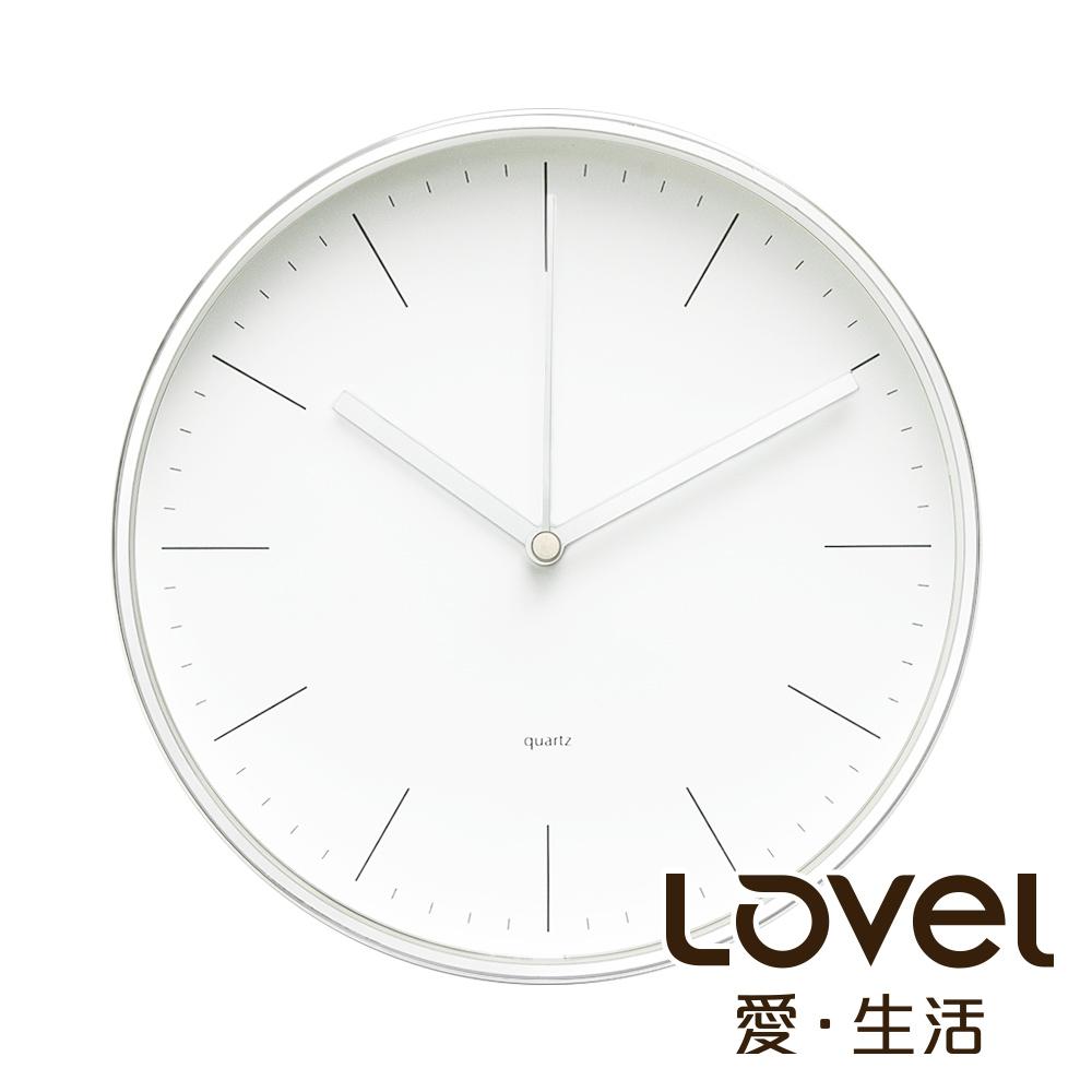 Lovel 20cm簡約鋁框時鐘- 共2款