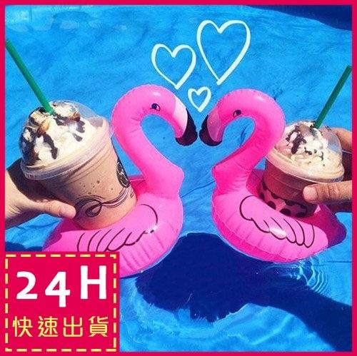 梨卡絕美天鵝造型飲料杯手機座游泳圈一組2入另售鵝彩虹馬浮板M073
