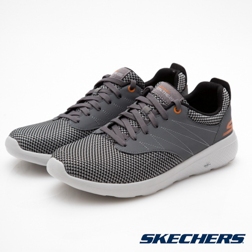 SKECHERS男鞋健走系列OnTheGO City灰橘54307CCOR