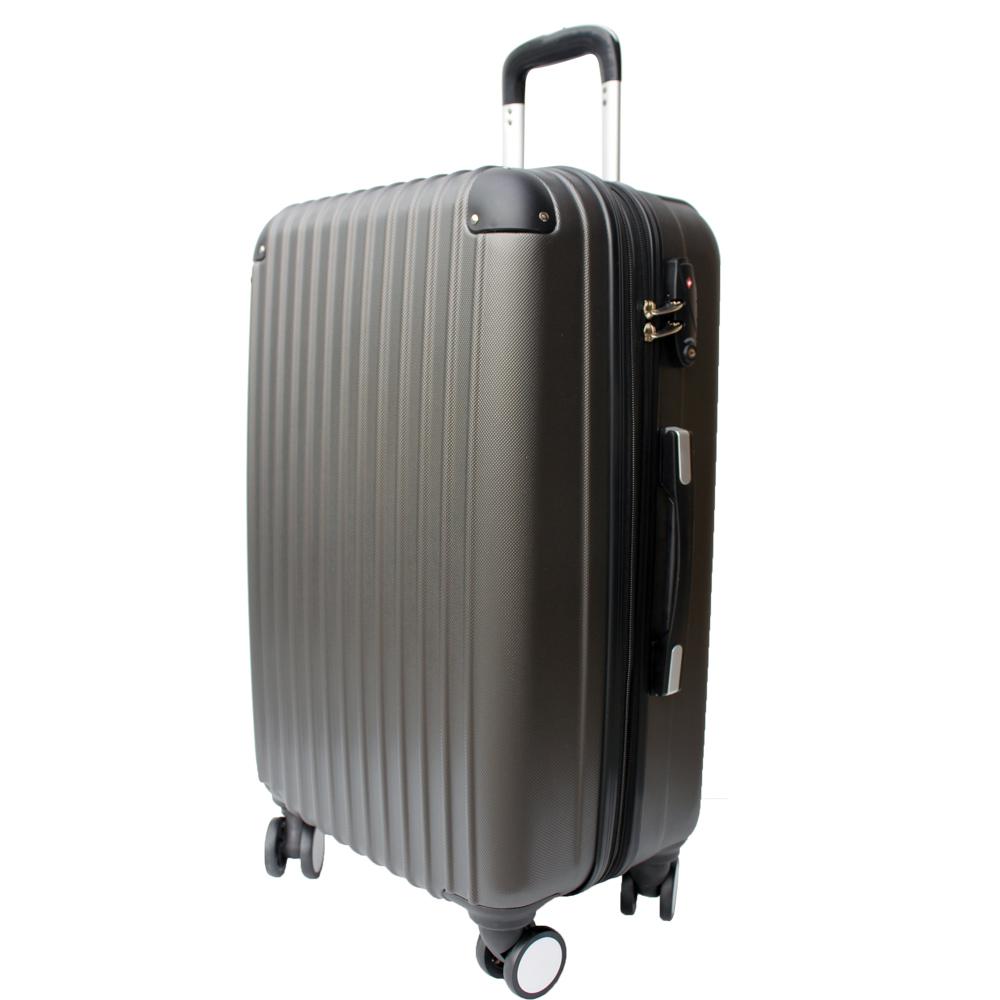 YC Eason皇家系列可加大海關鎖款ABS硬殼行李箱28吋-高貴灰