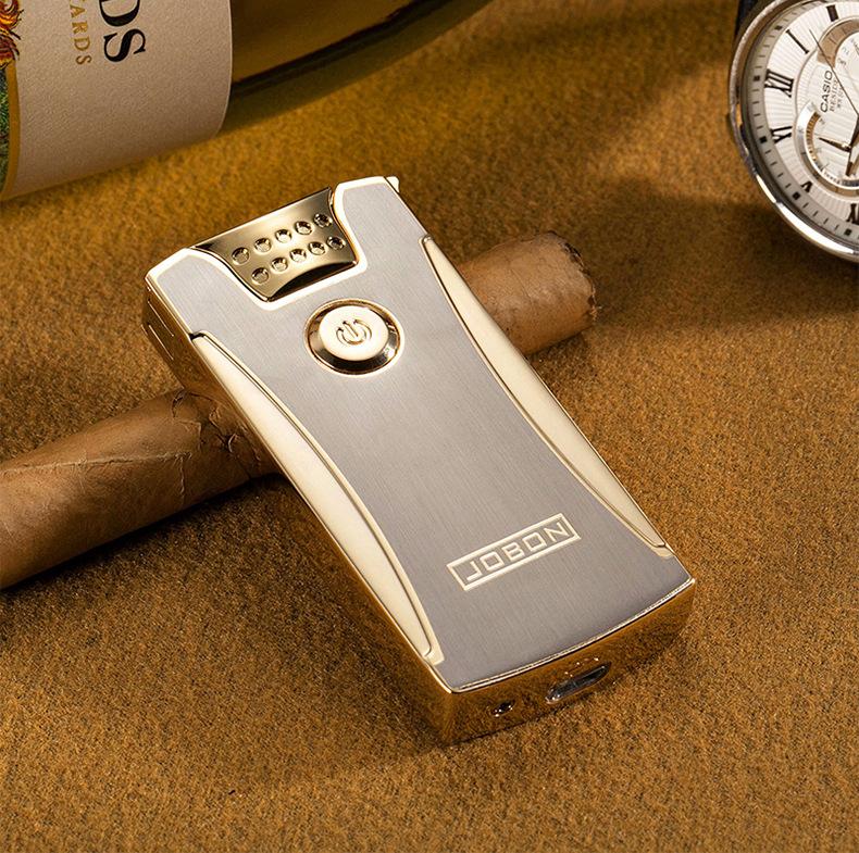 電子菸 雙電弧打火機 中邦USB 打火機 充電 脈衝 防風 金屬 創意 個性 男 電子點煙器