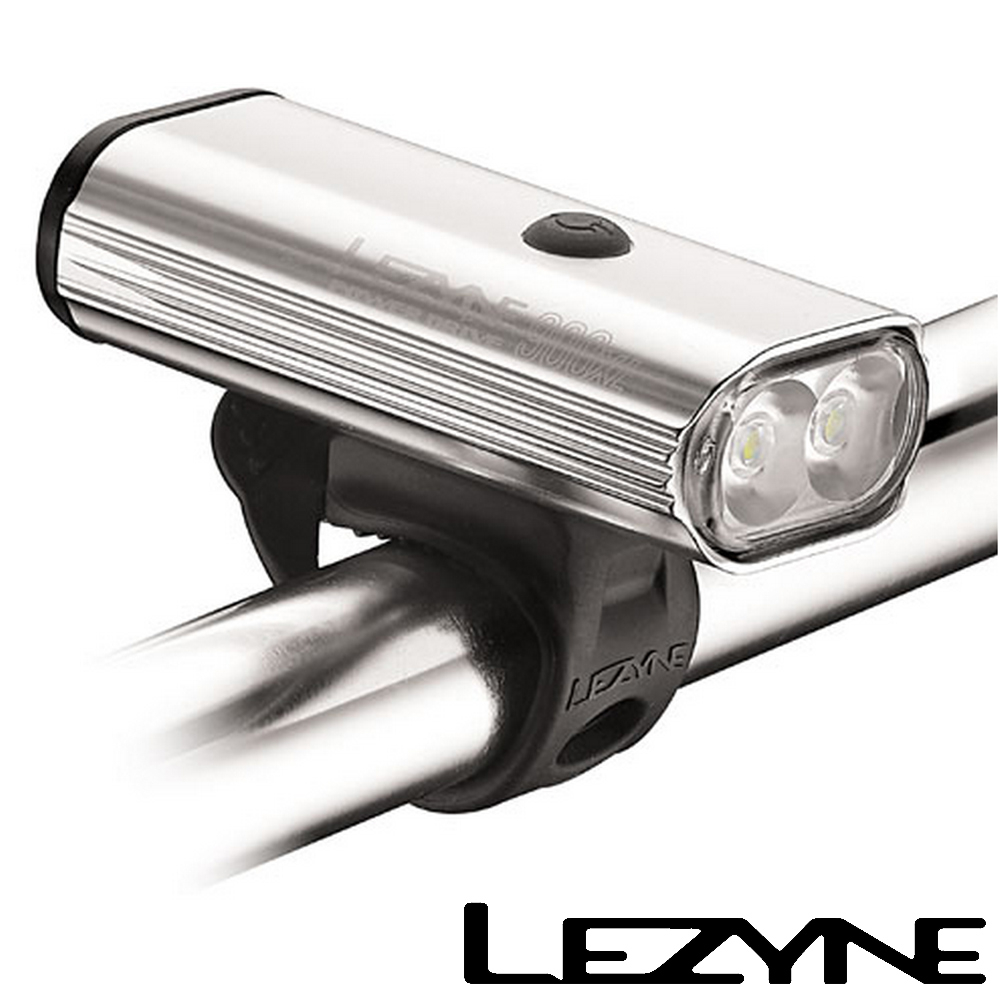 LEZYNE POWER DRIVE 900XL USB充電光學透鏡LED高亮度競速夜騎照明警示前燈銀
