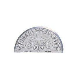 義大文具~LIFE半圓分度器10CM 180度NO.1018室內設計木工設計科必備量角器