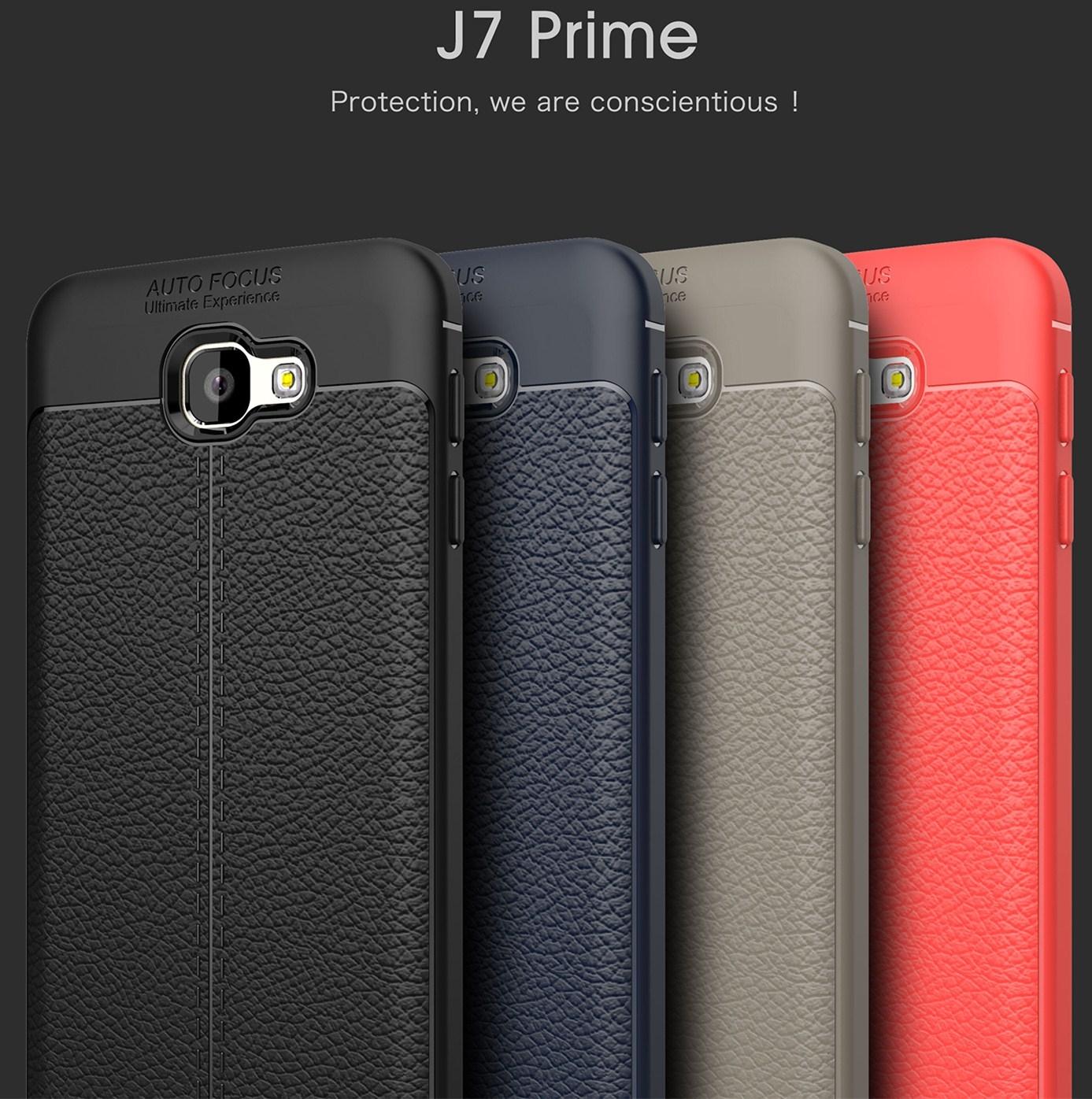 三星 J7 Prime J5 Prime 荔枝紋手機殼 全包防摔保護套 TPU軟殼皮紋手感 保護殼 手機套 J7P/G610 J5P