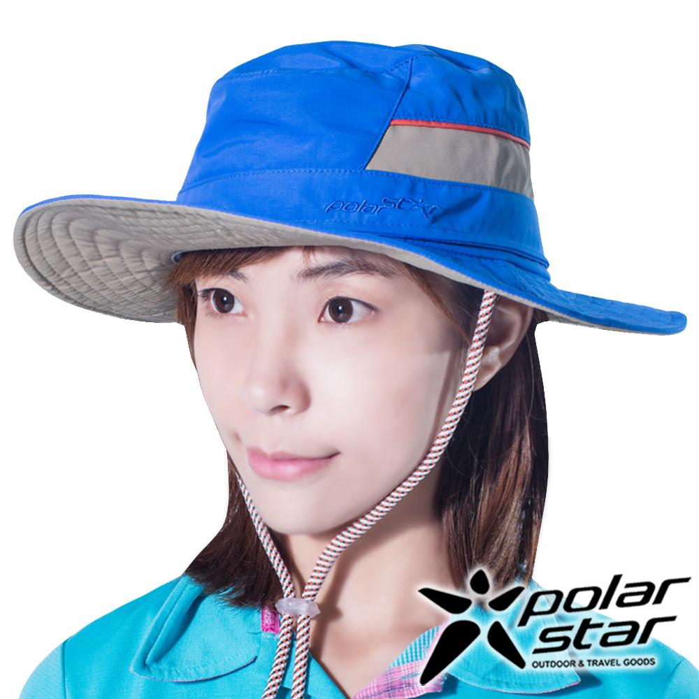 PolarStar圓盤帽牛仔帽天藍P16516抗UV帽登山帽路跑慢跑帽遮陽帽防曬帽