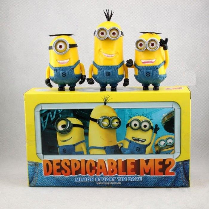 發現好貨神偷奶爸卑鄙的我小小乒3款盒裝小黃人黃豆豆可動盒裝公仔3D玩具公仔手可動