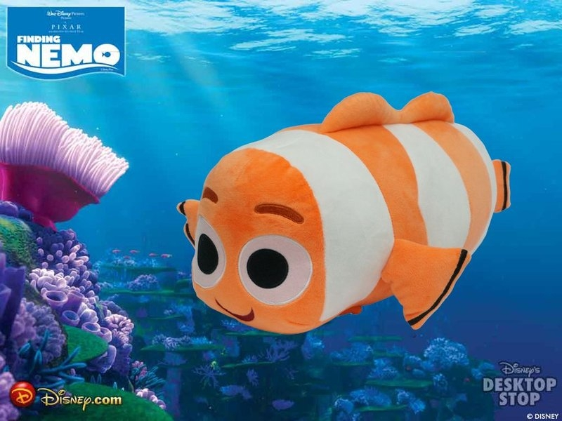 默肯國際迪士尼海底總動員尼莫玩具總動員三眼怪腦筋急轉彎憂憂抱枕造型抱枕