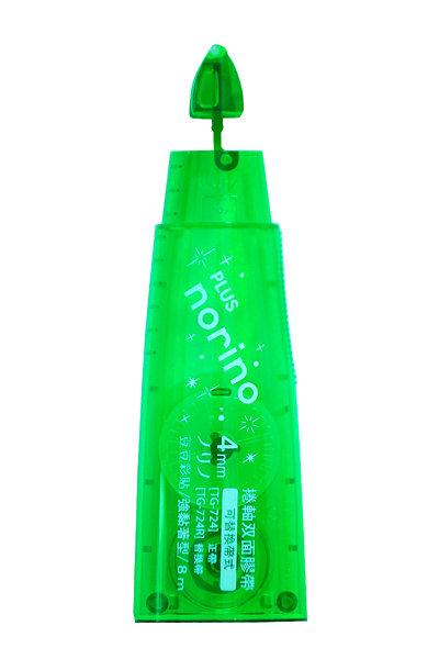 【PLUS】 norino TG-724R 豆豆彩貼替帶(綠色) / 個