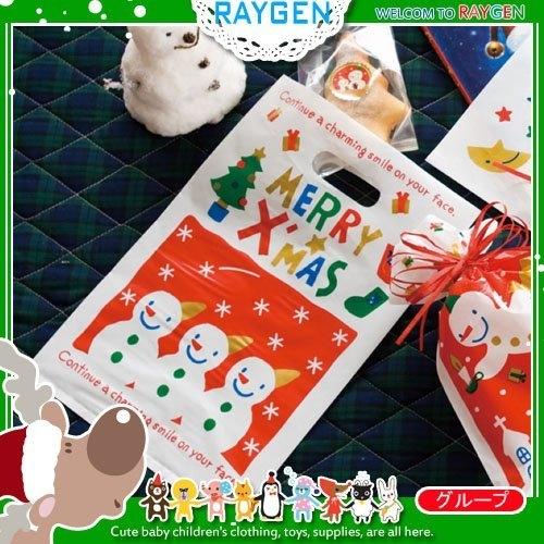 聖誕禮品包裝袋 雪人小夥伴塑料袋 挖口提袋 單售