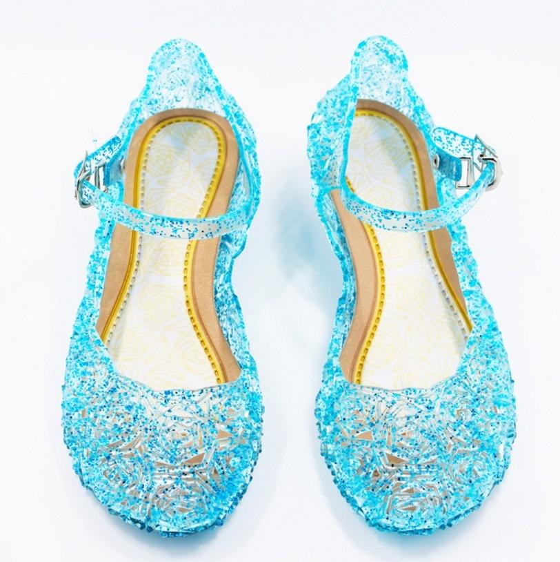 衣童趣女童冰雪奇緣鞋子艾莎水晶鞋角色扮演公主鞋拍照表演必備