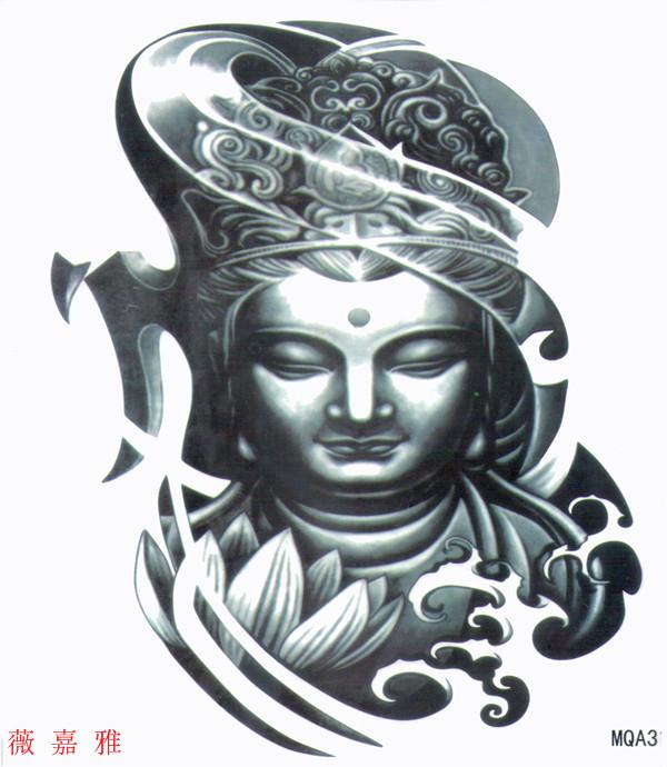 薇嘉雅       大圖經典圖案紋身貼紙 - 佛祖 (MQA31)