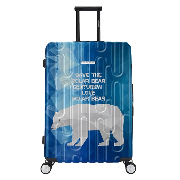 【CENTURION百夫長】拉鍊款22吋U_H_C79北極熊行李箱