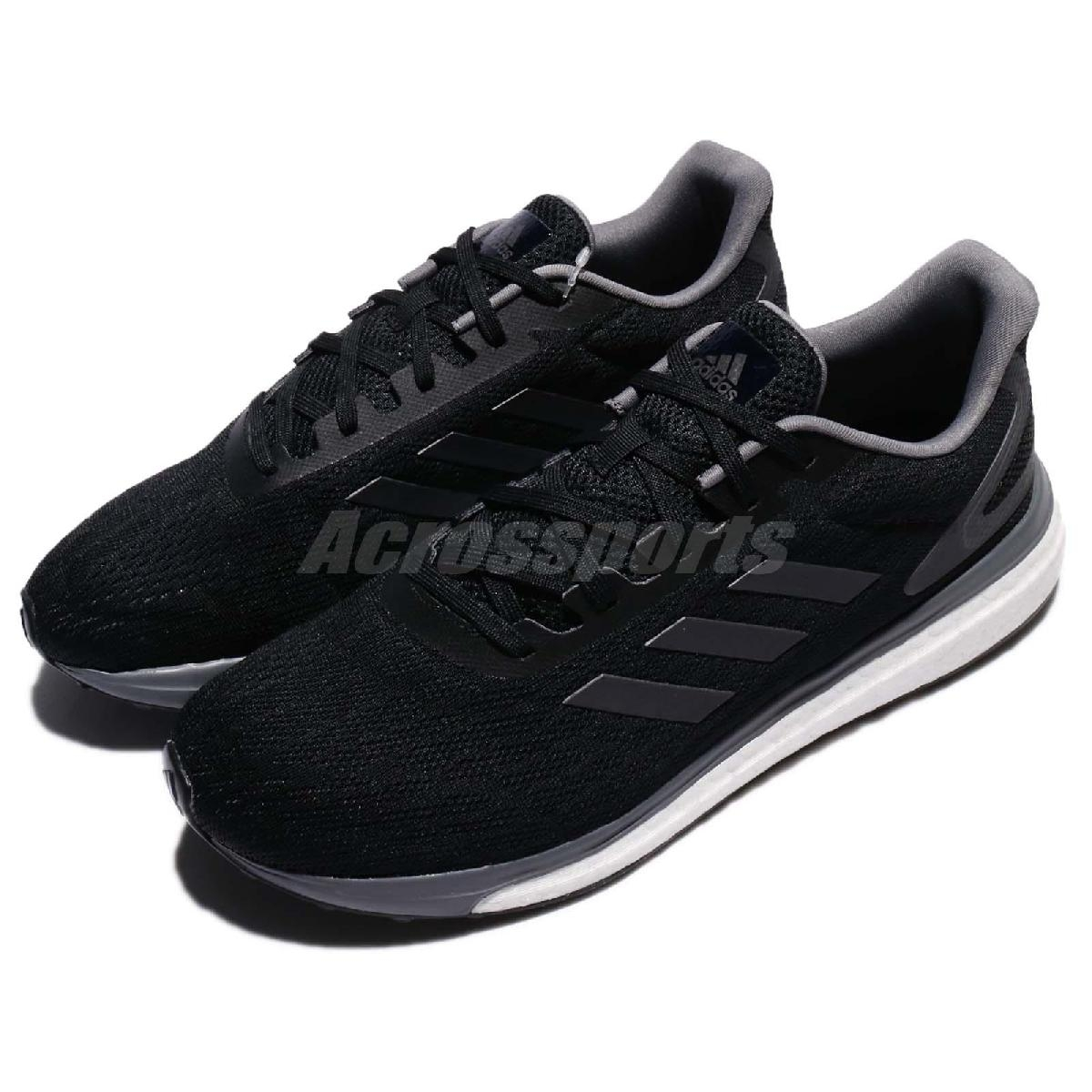 adidas 慢跑鞋 Response LT M 黑 白 BOOST中底 運動鞋 黑白 男鞋【PUMP306】 BB3617
