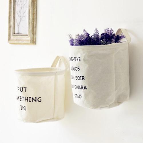 收納籃髒衣籃洗衣籃收納桶棉麻掛壁收納袋方形收納筐SV8225快樂生活網