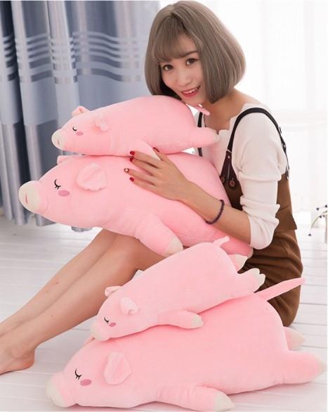 趴趴豬長抱枕50公分玩偶填充娃娃抱枕毛絨玩具生日禮物玩具桌遊可愛迷人紓壓療癒