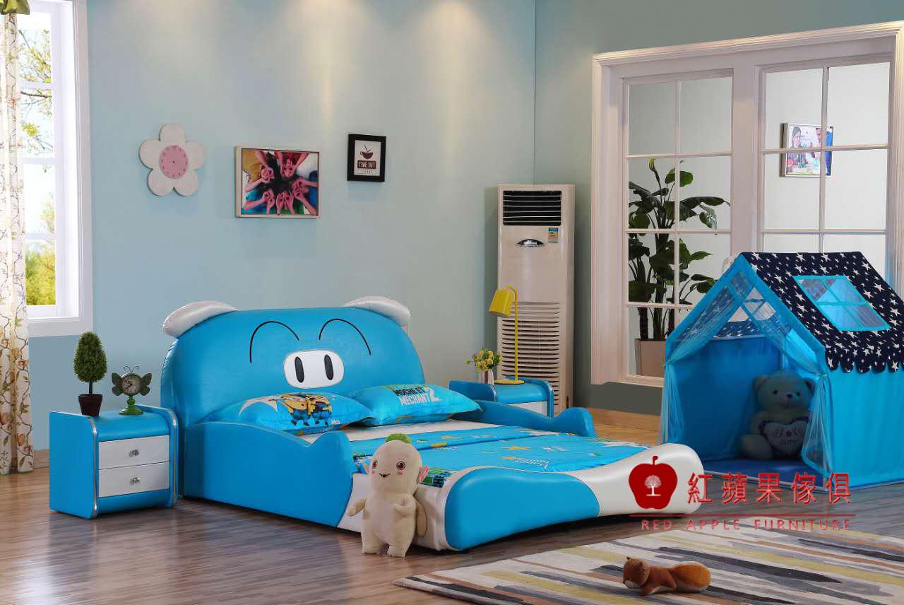 紅蘋果傢俱Y811兒童家具跑車床兒童功能床四尺五尺汽車床床架造型床床頭櫃