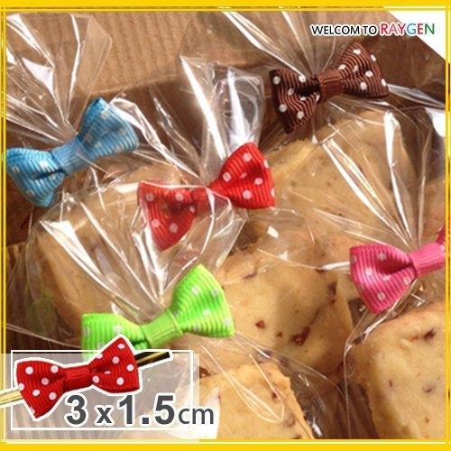 烘焙餅乾點點蝴蝶結束口帶 糖果包裝袋 不挑款