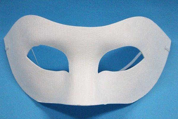 半罩面具彩繪面具附鬆緊帶一袋50個入定40歌劇魅影空白面具紙漿面具DIY面具臉譜