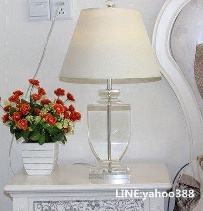 奢華水晶檯燈歐式臥室床頭婚慶燈飾歐美現代簡約風