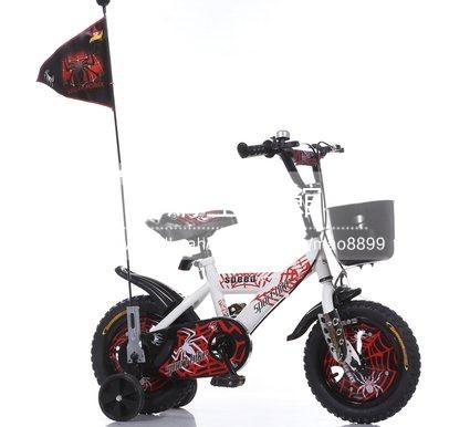 兒童自行車男女孩四輪腳踏車12 14 16 18吋可選白色蜘蛛俠LG-286859