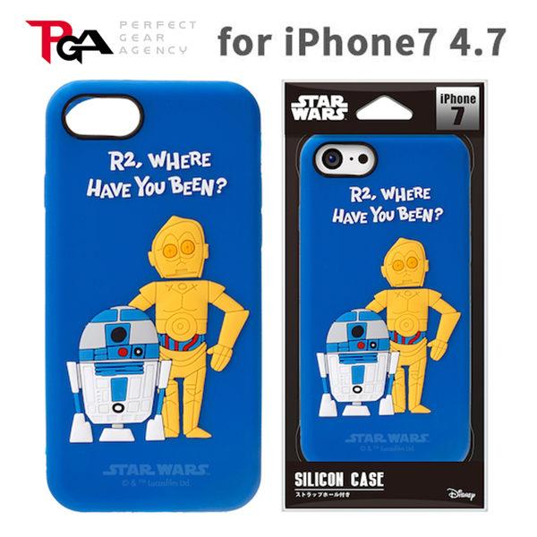 漢博iPhone7 6S 4.7吋iJacket Star Wars星際大戰矽膠立體保護軟殼R2D2 C3PO