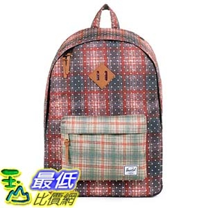[美國直購] Woodlands Backpack Rust Plaid Polka Dot/Grey Plaid 背包 筆記本電腦背包