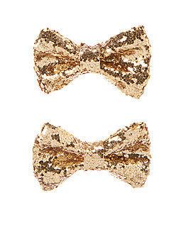 GYMBOREE髮夾  金色蝴蝶結設計款髮夾
