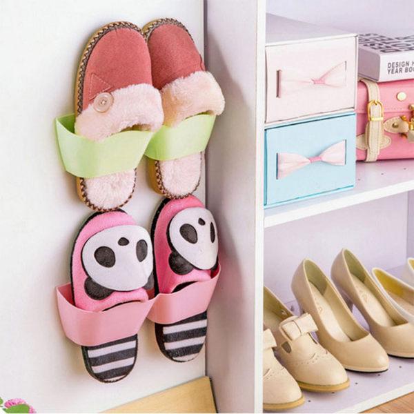 鞋架【SPA013】壁掛式收納鞋架 牆面收納 櫃邊鞋架 鞋子收納 鞋類收納雙層鞋架-收納女王
