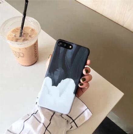 SZ24 iphone 7 plus手機殼原創藍白羽毛磨砂硬殼iphone 6s plus手機殼
