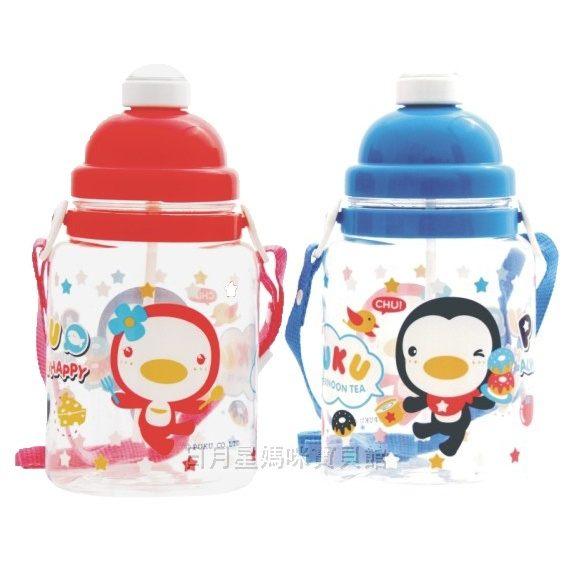 水壺學習杯PUKU藍色企鵝彈跳水壺台灣製造兒童水壺日月星媽咪寶貝館