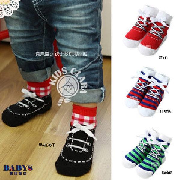 襪子帆布鞋造型立體鞋帶兒童襪四色寶貝童衣