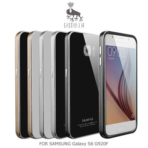 LUPHIE SAMSUNG Galaxy S6 G920F金屬邊框鋼化背殼鋁合金鋼化玻璃背蓋手機殼保護殼