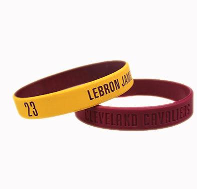 NBA官方授權正版運動矽膠手環-克里夫蘭騎士小皇帝詹姆士雷霸龍LBJ