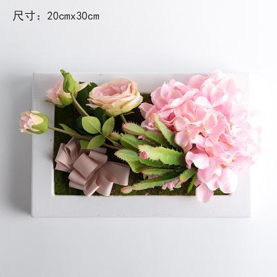 模擬花假花掛牆壁裝飾花 相框植物壁飾 多肉套裝花藝壁掛   -bri010013
