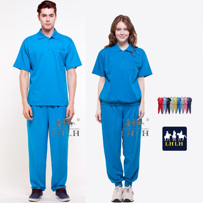 翠藍色套裝母娘色慈惠堂進香服廟會服短袖女生男生Polo衫現貨