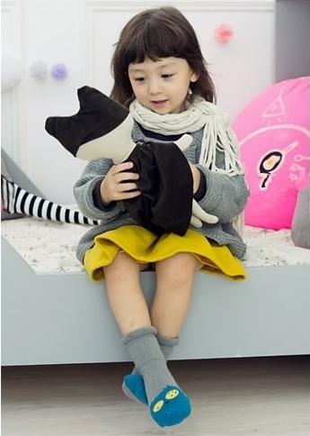 [韓風童品] 卡通松口毛圈襪  兒童防滑點膠襪 男女童嬰幼兒寶寶防滑襪 童襪 寶寶襪 兒童襪子