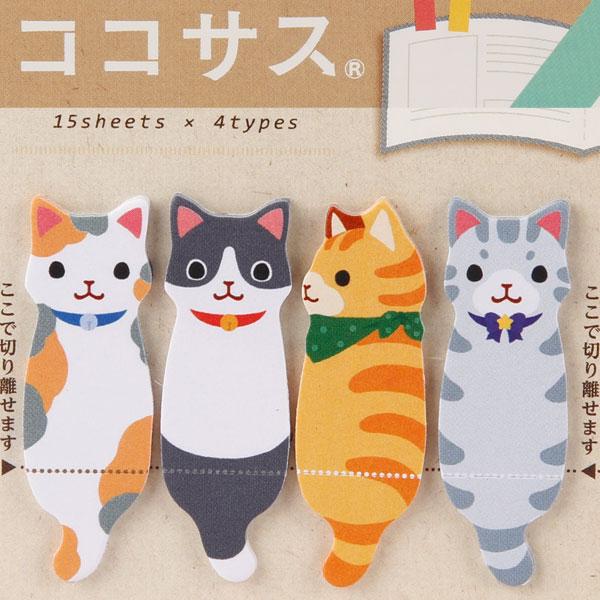 ❤Hamee 日本 創意造型系列 便條紙 便利貼 自黏貼 N次貼 辦公小物 (貓咪一起玩組合) [177-152019]