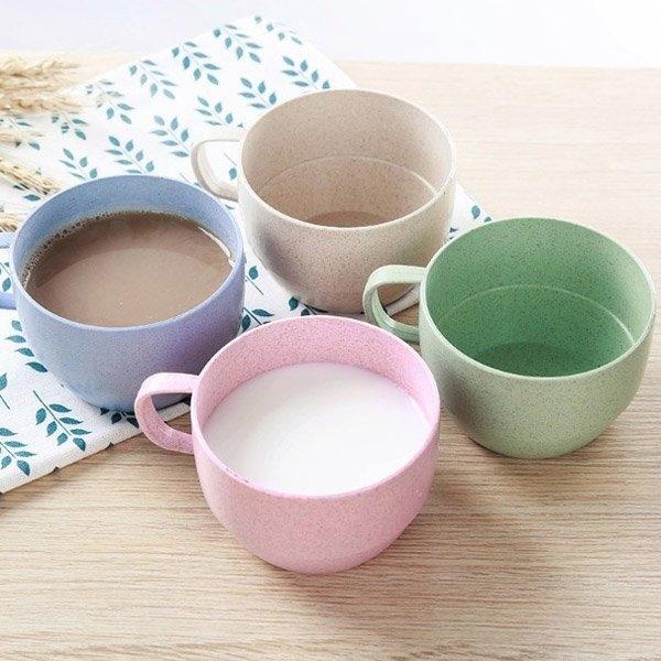 杯具人生第2件1折BlueCat環保小麥粒簡約辦公室單耳咖啡杯