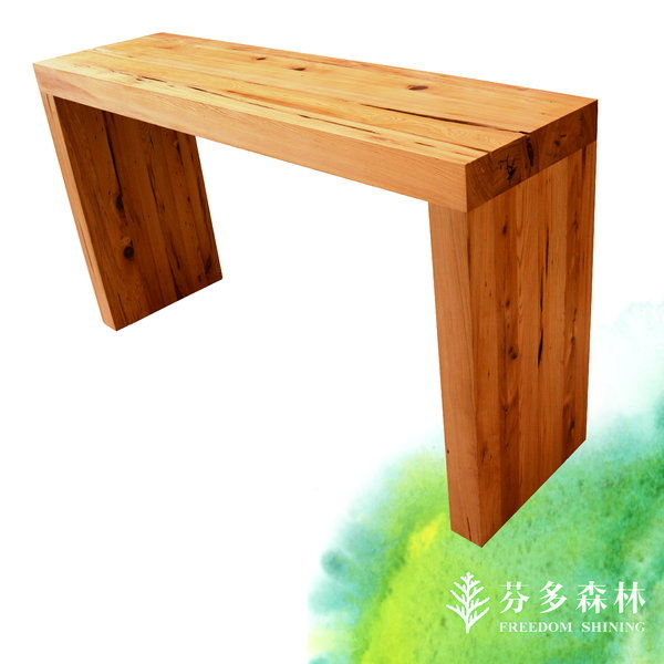 紅檜玄關桌台灣檜木原木傢俱實木家具檜木壁桌玄關展示桌北歐家具厚實傢俱芬多森林