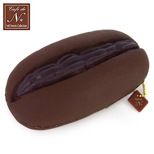 巧克力款日本進口夾心麵包捏捏吊飾吊飾捏捏樂軟軟CAFE DE N SQUISHY 617347