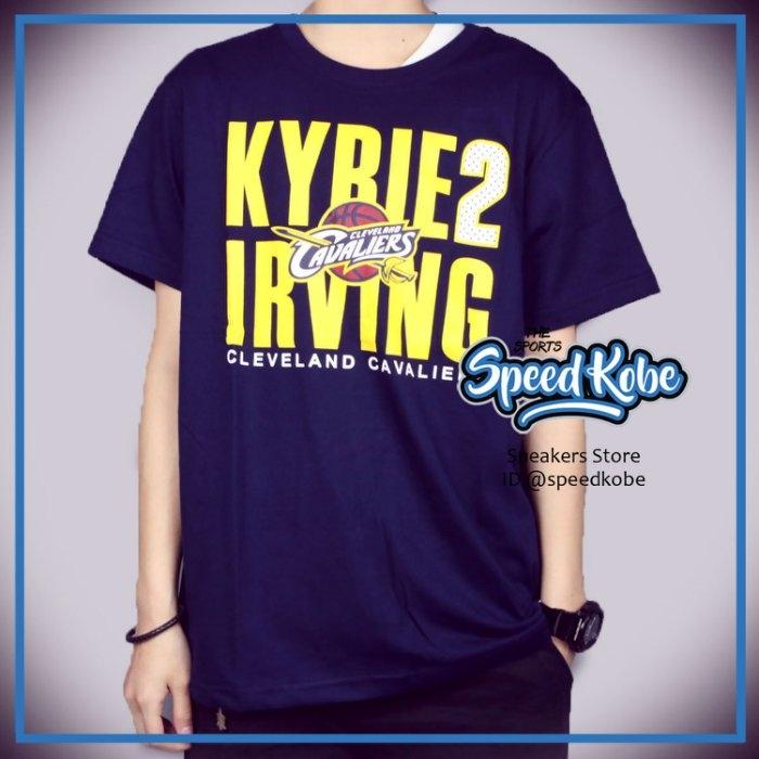 創信NBA短袖短T騎士Irving 2深藍黃點點號碼8730260-111 Speedkobe