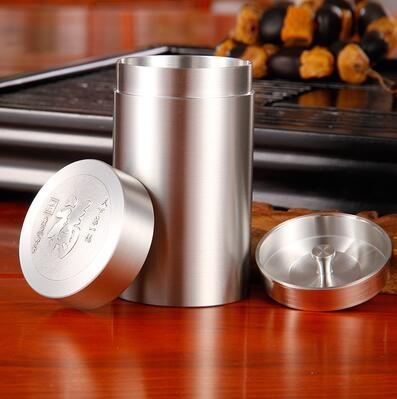 正品錫罐錫製茶葉罐純錫茶葉罐錫壺器旅行罐車載煙罐罐蓋有福