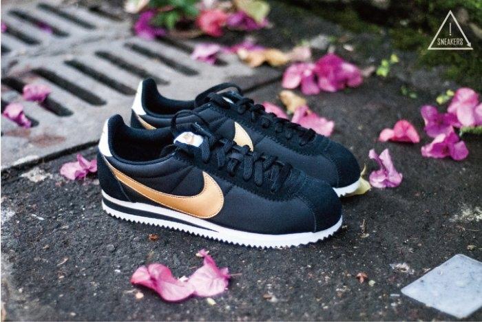 ISNEAKERS Nike Classic Cortez Nylon阿甘黑金女款限量上架807472-002